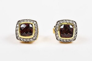 David Yurman David Yurman 18k Yellow Gold Garnet Pave Diamond Petite Albion Earrings