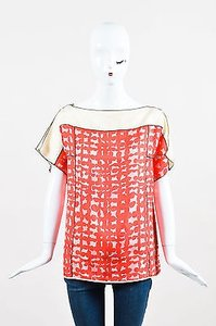Marc Jacobs Cream Pink Top Red