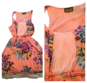 Maude short dress Pink floral multi Summer on Tradesy