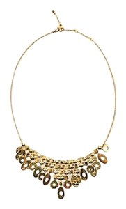 BVLGARI Bvlgari 18k Yellow Gold Geometric Lucea Collection Chandelier Bib Necklace