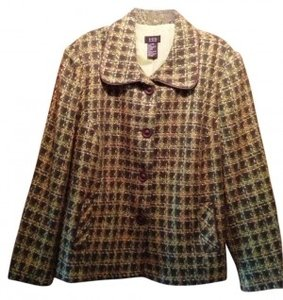 RQT Polyester Green and brown multi Blazer