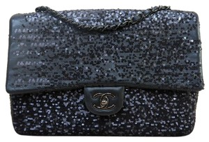 Chanel Sequin Jumbo Single Flap Shoulder Bag