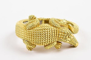 Barry Kieselstein-Cord Barry Kieselstein-cord 18k Yellow Gold Alligator Hinged Bracelet