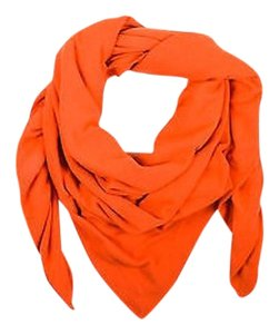 Chanel Chanel Orange Cashmere Throw Blanket Wrap Scarf