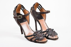 Laurence Dacade Python Brown Sandals