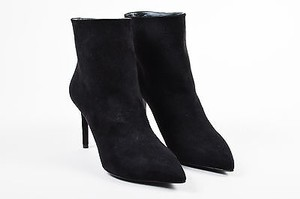 Louis Vuitton Suede Pointed Toe Heeled Ankle Black Boots