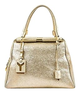 Saint Laurent Yves Metallic Volcano Leather Medium Majorelle Tote Hobo Bag
