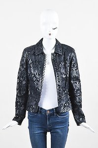 Valentino Leather Laser Black Jacket