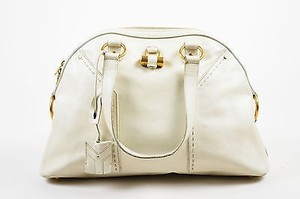 Saint Laurent Yves Rive Tote in Cream
