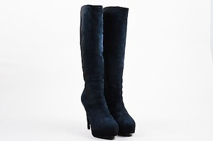 Saint Laurent Yves Navy Blue Boots