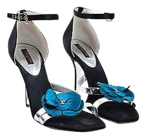 Louis Vuitton Blue Black Sandals