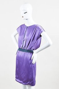 Zac Posen short dress Purple Silk Beaded on Tradesy