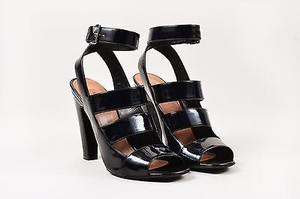 ALAÏA Alaia Patent Leather Black Sandals