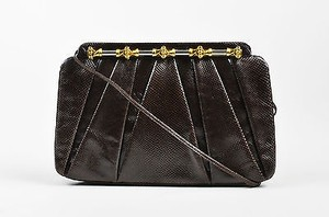 Judith Leiber Dark Brown Clutch