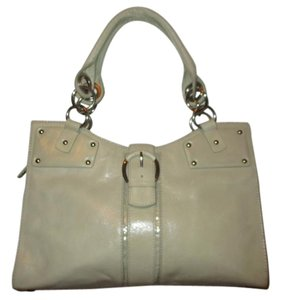 Donald J. Pliner Leather Tote Satchel in beige