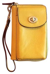 Coach Wristlet in Sunflower