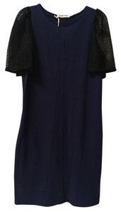 See by Chloé Chloe Navy Shift Black Lace Sleeves Dress