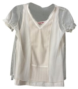 See by Chloé Chloe V-neck Top Beige