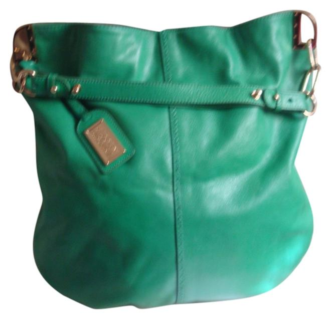 Item - Bright Green Leather Hobo Bag