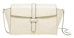 Kate Spade Crossbody Emmie Riverside Street Ostrich Emmie Satchel in Bone
