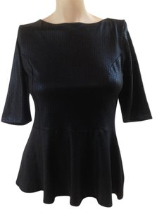 Sashay's Peplum Sequin T Shirt Black