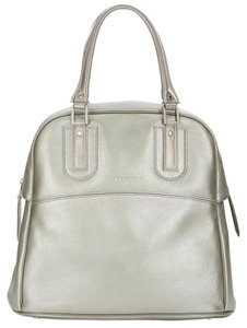 Longchamp Leather Dustbag Tote in Silver