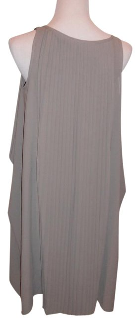 Item - Dark Beige Pleaded Flowy Comfortable Cut Perfect Look Mid-length Night Out Dress Size 8 (M)