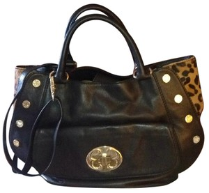 Emma Fox Satchel in Black/Print