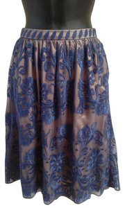 Sundance Floral Lace Overlay Skirt Cream, navy