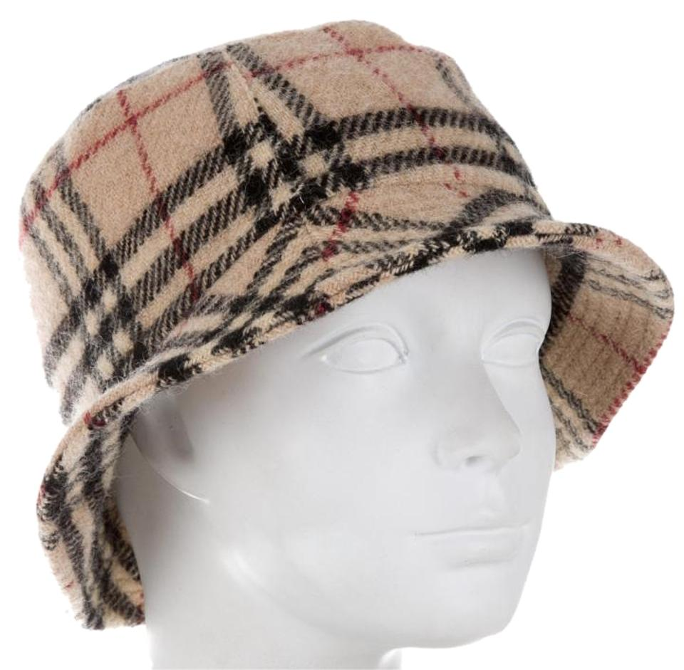 Burberry Beige Black Brown Nova Check Wool Bucket Hat - Tradesy 28625e58353