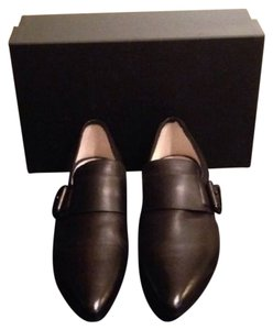 Vic Matié Italian Leather Black Flats