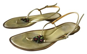 Matisse Metallic Jewels Gold Sandals