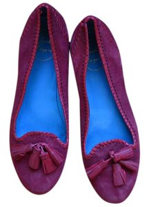 Jack Rogers Leather Classic Red Suede Flats