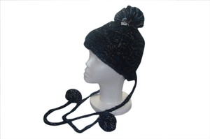 Urban Outfitters Urban Outfitters 'Staring at Stars' Slouchy Crochet Knit Trapper Hat Teal Blue & Black