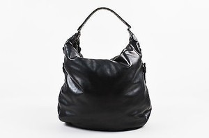 Bottega Veneta Leather Crocodile Woven Trim San Marco Hobo Bag