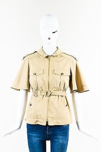 Gucci Belted Wing Sleeve Belted Elastic Waist Safari Tan Jacket