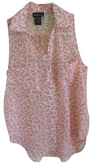 be828a1969fff well-wreapped Wet Seal White, Pink, Purple, Green Flower Printed (rn ...