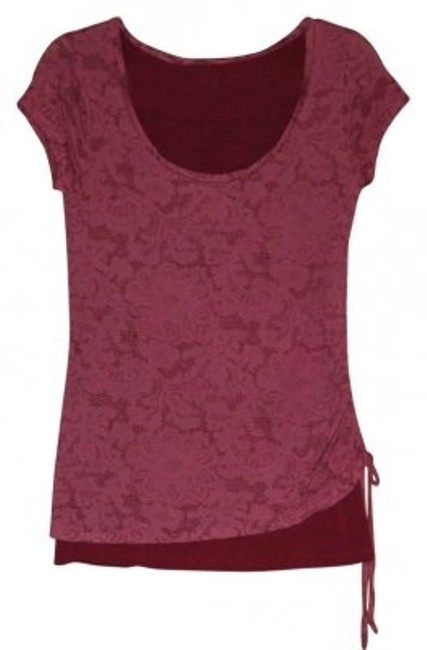 Preload https://img-static.tradesy.com/item/180354/1-madison-burgundy-layered-look-blouse-size-6-s-0-0-650-650.jpg