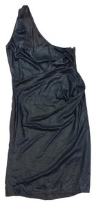 AllSaints short dress Gunmetal Grey Draped One on Tradesy