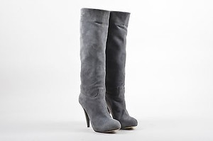 Bally Suede Round Toe Gray Boots