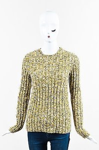 Valentino Yellow Wool Cashmere Blend Giallo Sweater