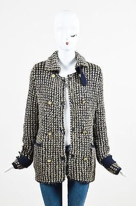 Chanel 09a Gold Navy Metallic Multi-Color Jacket
