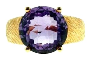 GORGEOUS + STEAL - 14k gold 6 cts amethyst ring