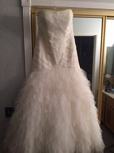 Galina Gown With Woven Bodice And Ruffled Skirt Wedding Dress
