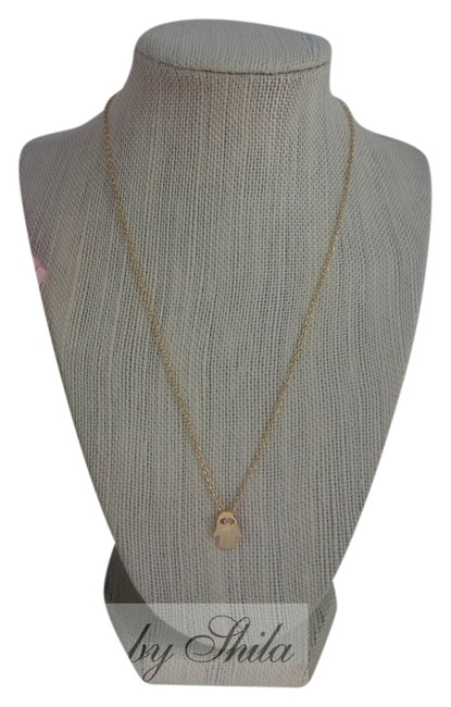 Item - Gold Delicate Hamsa Necklace with Swarovski Crystal In The Middle