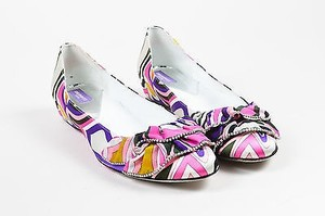 Emilio Pucci Multicolor Satin Multi-Color Flats