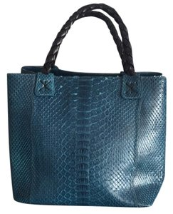 Fatto A Mano by Carlos Falchi Satchel in Blue