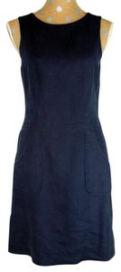 J.McLaughlin short dress Blue Linen Shift on Tradesy