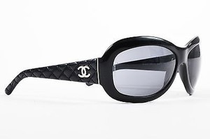 Chanel Chanel Black Leather Quilted 5116q Sunglasses