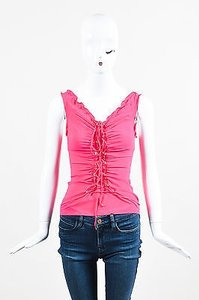 Roberto Cavalli Hot Silk Top Pink